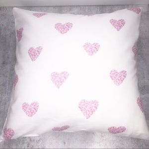 Decorative Pink Heart Home Decor Pillow Case Cover